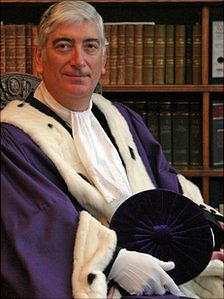 Sir Geoffrey Rowland in his official robes