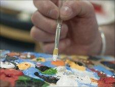 Patient painting
