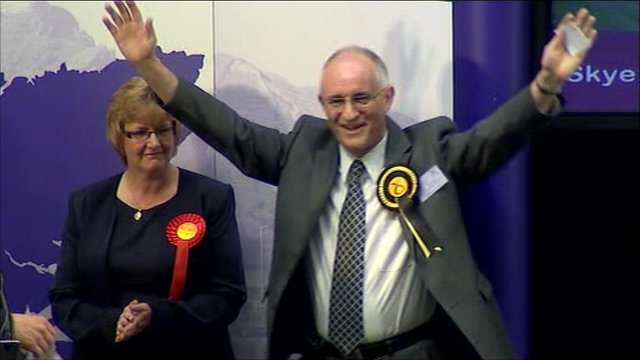 Victorious SNP candidate for Skye, Lochaber & Badenoch, Dave Thompson