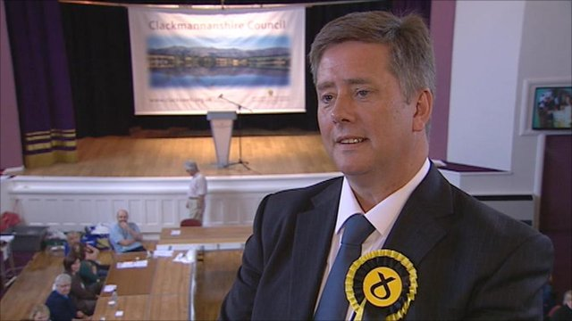 Keith Brown, winning SNP candidate for Clackmannanshire and Dunblane