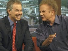 Tony Blair and Art Garfunkel