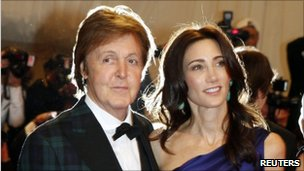 Sir Paul McCartney with Nancy Shevell, 2 May 2011
