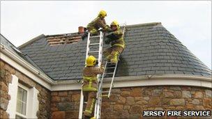 House struck by lightning. Pic: Jersey Fire Service