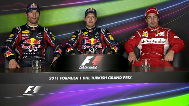 Turkish Grand Prix - Top three drivers