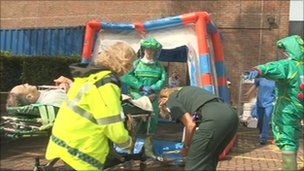 Dirty bomb exercise at Winchester hospital