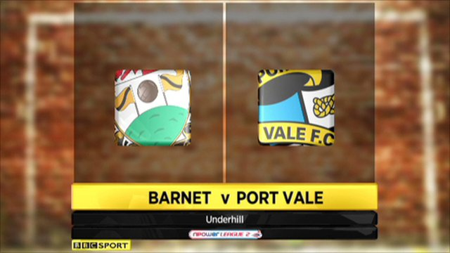 Barnet 1-0 Port Vale