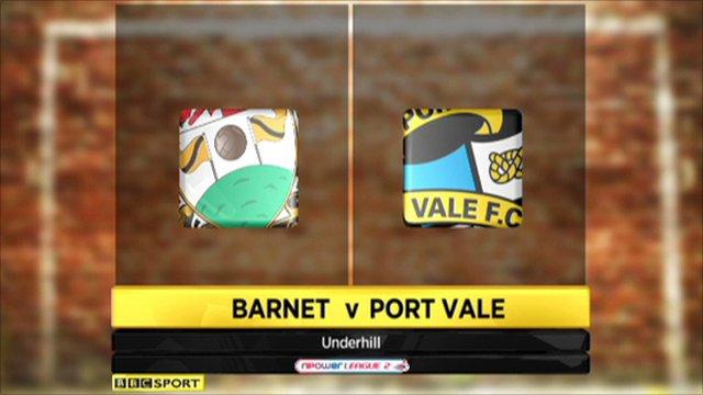Barnet 1-0 Port Vale
