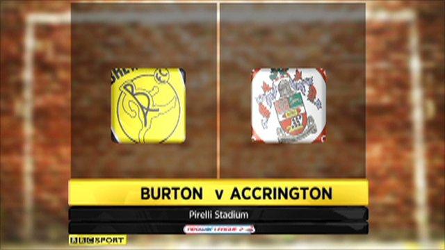 Burton 1-1 Accrington
