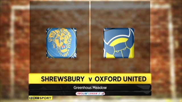 Shrewsbury 3-0 Oxford Utd