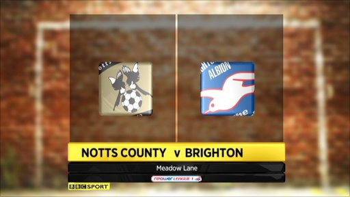 Highlights - Notts County 1-1 Brighton