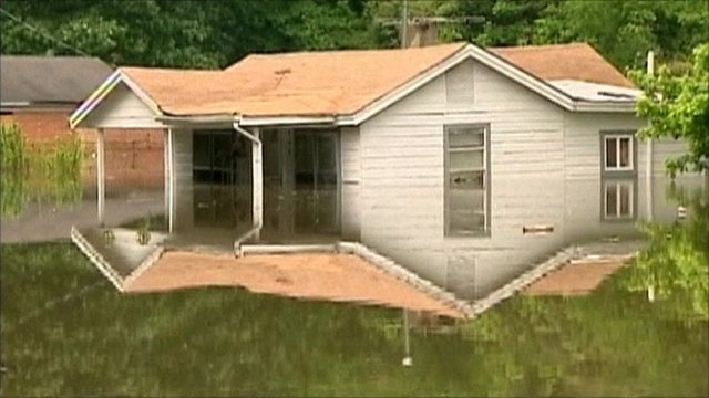 Flooded home in Memphis