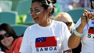 Samoan rugby fan
