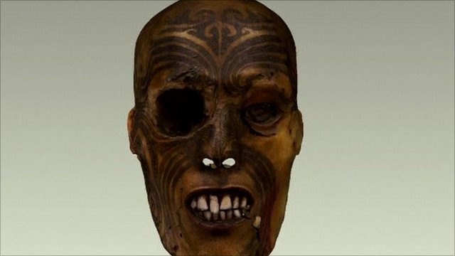 Maori warrior head