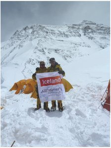 Malcolm and Richard Walker at the North Col of Everest