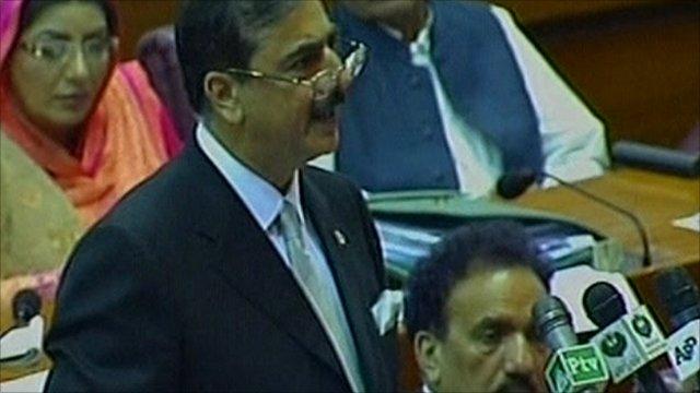 Pakistan Prime Minister Yusuf Raza Gilani