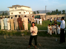 Mishal Husain reporting for the BBC from Abbottabad - May 2011