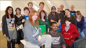 Animation students at Norwich University College of the Arts