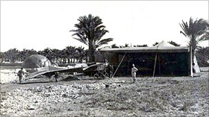 Gavotti threw the bombs from an Etrich Taube (Dove) monoplane - photo courtesy of Paolo de Vecchi