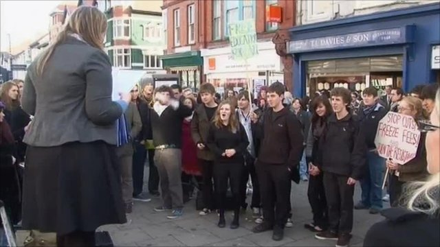 Student protest against increased tuition fees