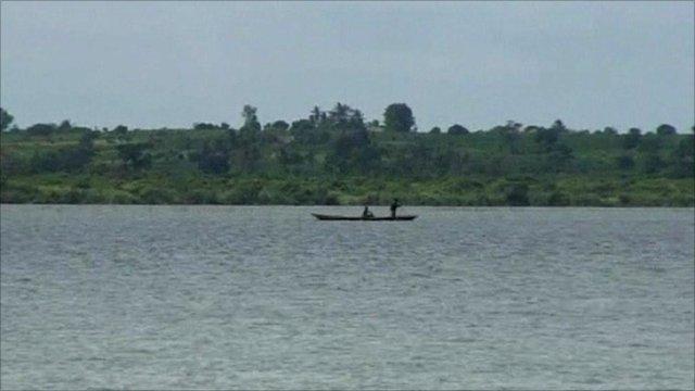 Boat on Lake Togo