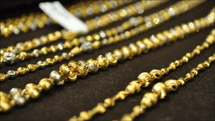 Gold chains in store in Mumbai
