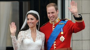 The Duchess and Duke of Cambridge after their wedding