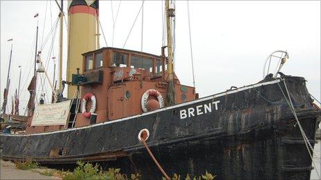 Steam tug 'Brent' moored at Maldon