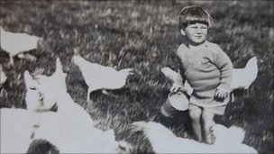 John Catt as a two-year-old