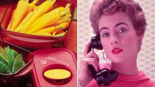 Tupperware and 1950s housewife