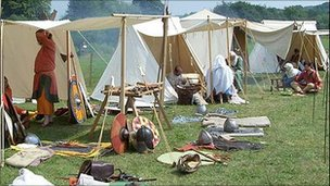 History re-enactments on The Sands in Durham. Photo: Terry Ferdinand