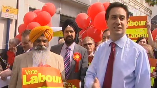 Ed Miliband and Labour supporters