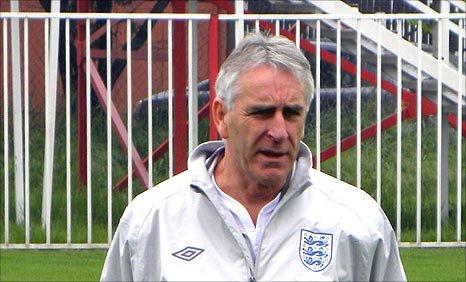 England coach John Peacock