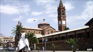 The Cathedral and Catholic Mission in Eritrea's capital Asmara