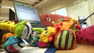 Toys on desk