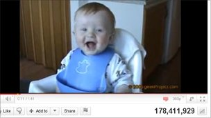 Laughing baby, YouTube