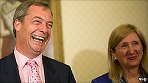 Nigel Farage and Marta Andreasen