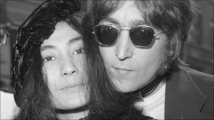 Yoko Ono with Lennon in 1971