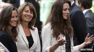 Pippa, Carole and Kate Middleton