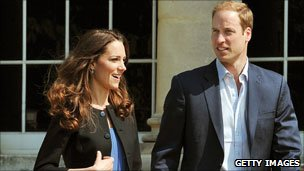 Catherine and William the day after the royal wedding