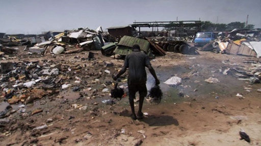 Rubbish dump in Ghana