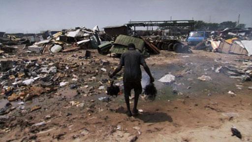 Rubbish dump in Ghana
