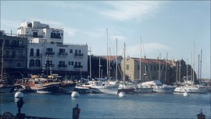 the harbour at Kyrenia in 1994
