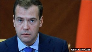 Russian President Dmitry Medvedev, 10 May 2011