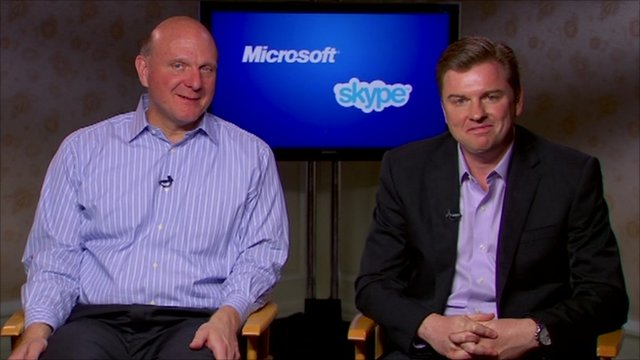 Steve Ballmer (left) and Tony Bates