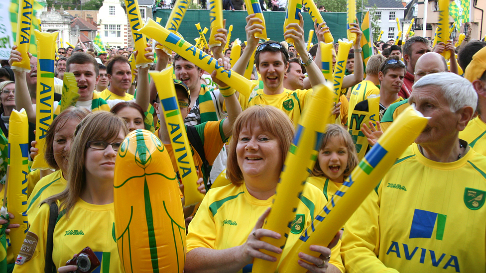Celebrity norwich city fans