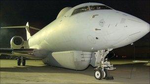 Sentinel R1 at at RAF Akrotiri