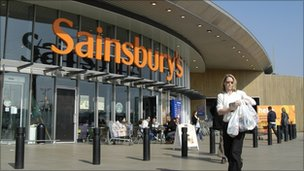 Sainsbury's store in east London
