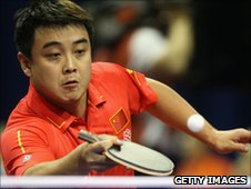 Table tennis player Wang Hao