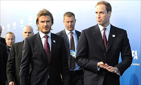 David Beckham and Prince William