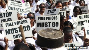 Ugandan women stage protest in Kampala over high prices - 9 May 2011